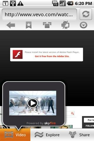 skyfire web browser android 2.1