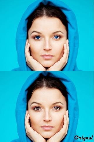 изменение цвет глаз на фотографии