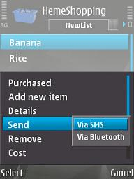 ShoppingList for S60