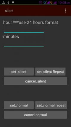 silent profile changer