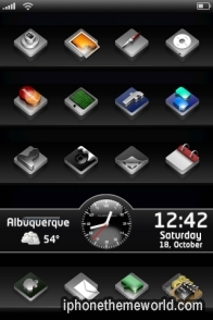 Black 3D iphone theme