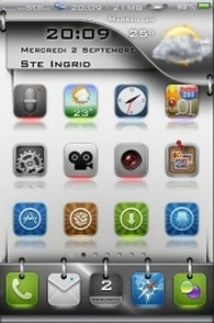 Metallic iphone theme