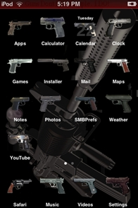Guns iphone theme