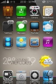 Clock Weather iPhone widget