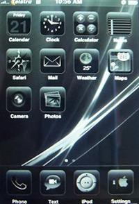 Back in Black iphone theme