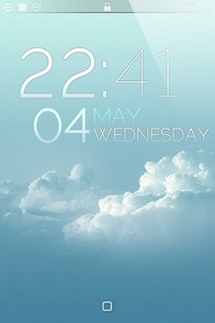 Clear Sky iPhone Lockscreen