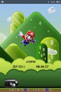 Animated Mario iPhone lockscreen