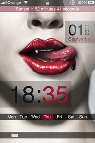 True Blood iPhone lockscreen