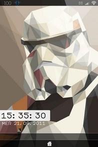 Stormtrooper iPhone lockscreen