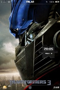 Optimus Prime iPhone lockscreen