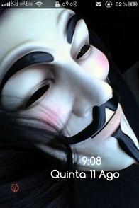 V for Vendetta iPhone Lockscreen