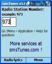 smsTunes Lyrics for Windows Mobile Devices