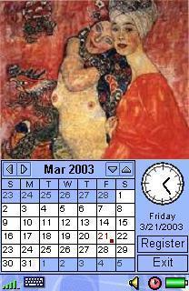 Image Calendar Gustav Klimt Edition for SE P800/P900/P910