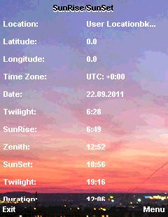 Sunrise/Sunset S60