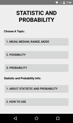 Statistic and Probability