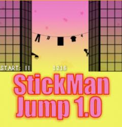 PSP Homebrew: Stickman Jump version 1.0