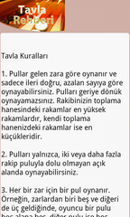Tavla Rehberi