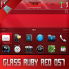 Glass Ruby Red OS7 theme by BB-Freaks
