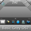 FREE Basic Grey OS7 theme by BB-Freaks