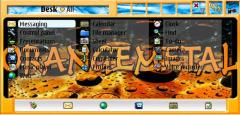 Orange Metal 7710 theme