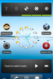 Barometer and Weather Clock with Widget for Android from Elecont