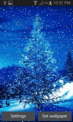 Winter Snowy Tree LWP