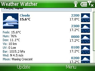 Weather Watcher Mobile Smartphone