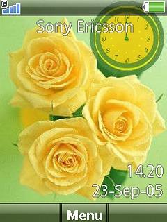 Yellow Flowers Clock